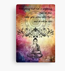 Zen Art Inspirational Buddha Quotes Canvas Print