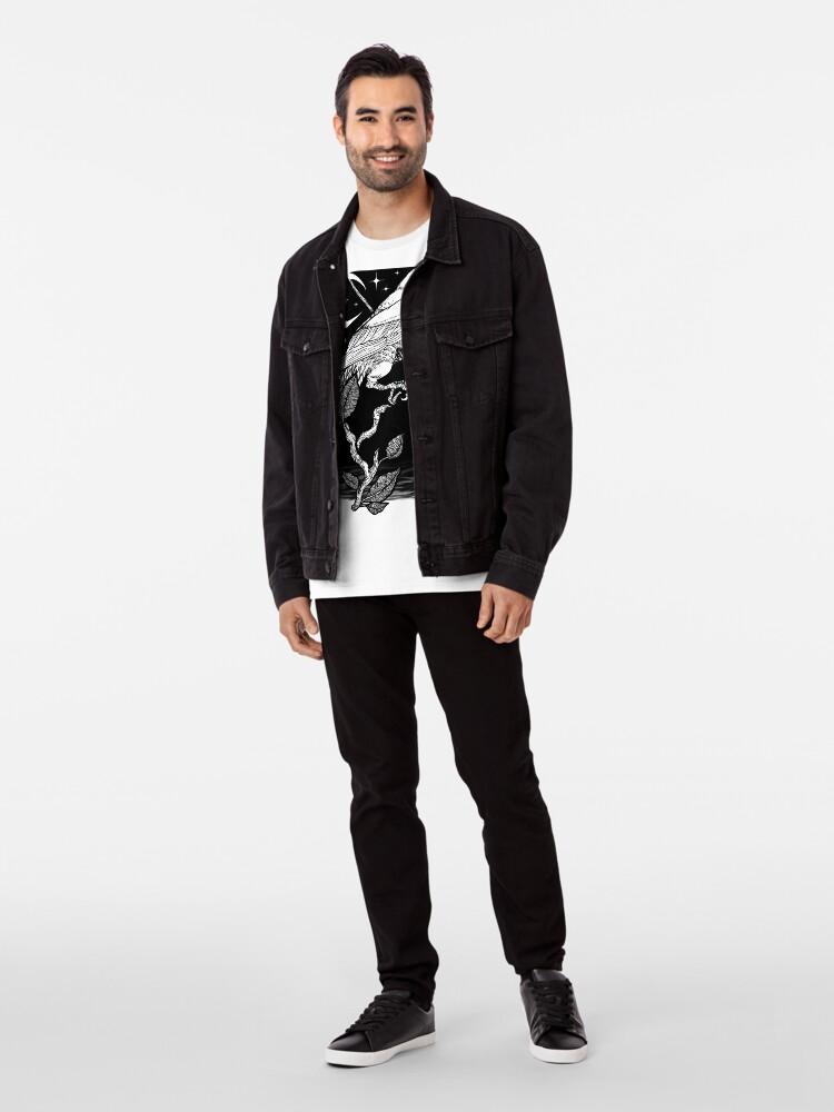 Vista alternativa de Camiseta premium Noche cuervo