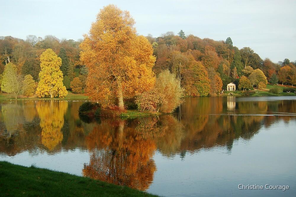 Stourhead at Autumn by Christine Courage