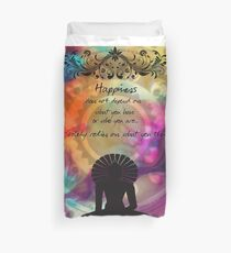 Funda nórdica Zen Art Inspirational Buddha Quotes Happiness