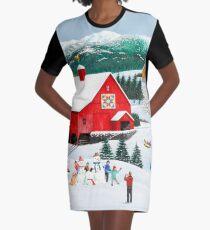 Winter Erinnerungen T-Shirt Kleid