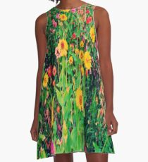 Flowers and leaves A-Line Dress