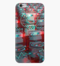 Retro 3D Robot Cinema iPhone Case