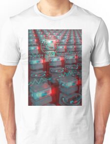 Retro 3D Robot Cinema Unisex T-Shirt