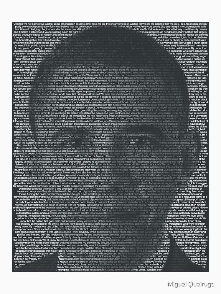 Barack Obama Quote Portrait by qqqueiru