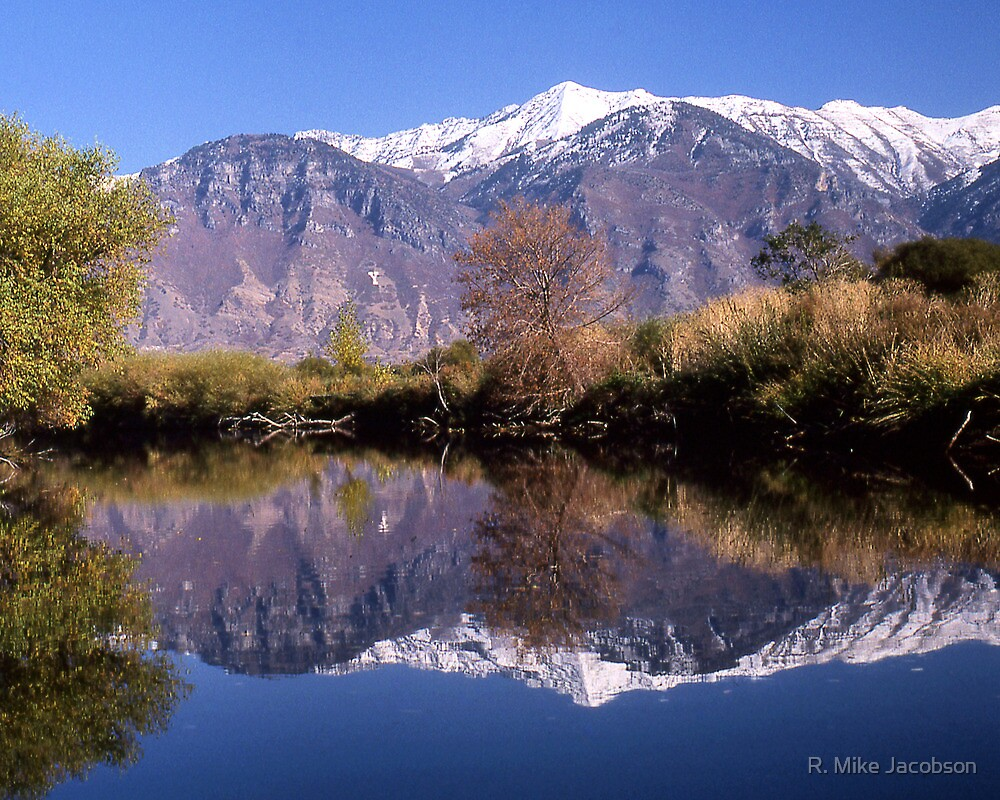 """Y"" Mountain Reflections by R. Mike Jacobson"