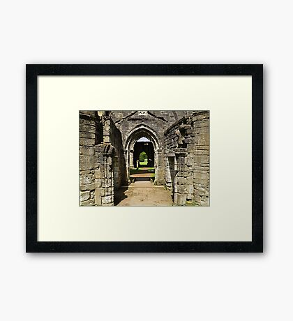 Archways at Dunkeld Cathedral. Framed Print