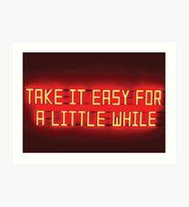 Arctic Monkeys - Nimm es leicht für eine Weile Kunstdruck