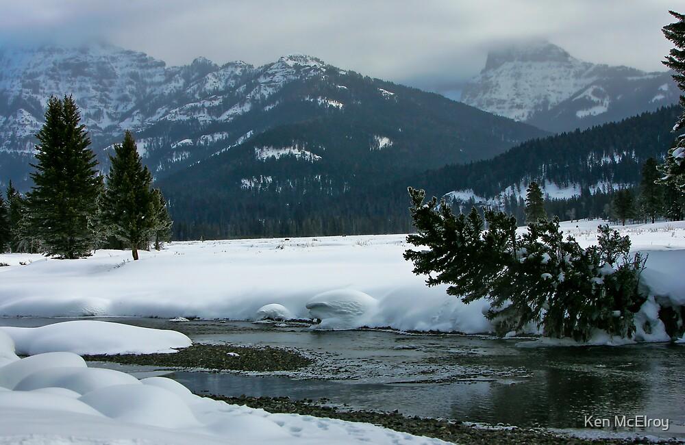 Soda Butte in Snow Season by Ken McElroy