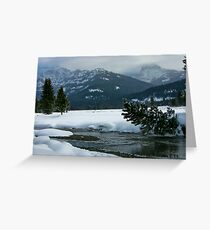 Soda Butte in Snow Season Greeting Card
