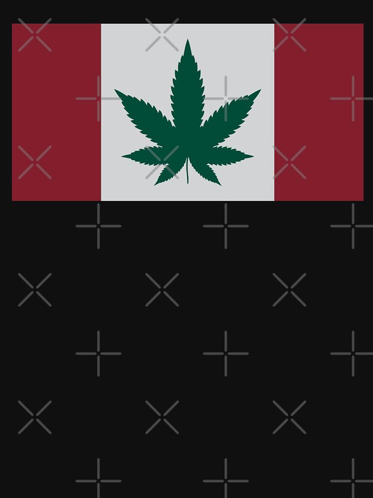 Kanadische Flagge Cannabis Leaf von TheFlying6