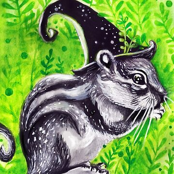 Halloween Witch Chipmunk ( Inktober 14 ) by artbysavi