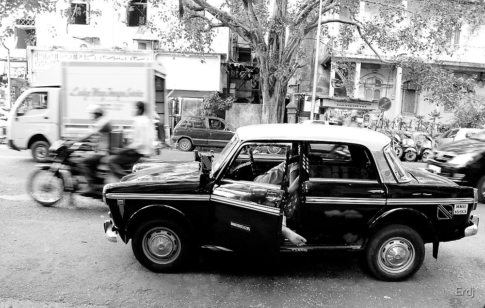 Taxi driver sleeping in Taxi by Erdj