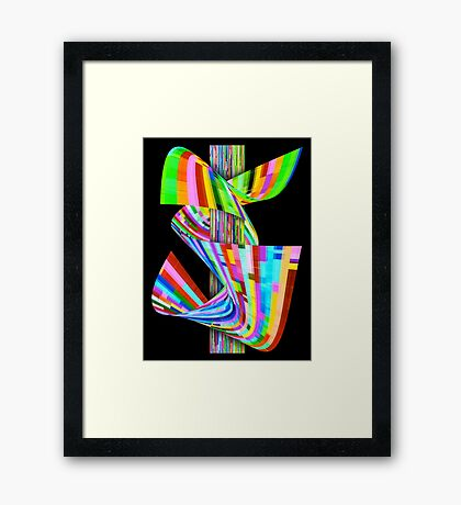 Ribbons of Digital DNA Framed Print