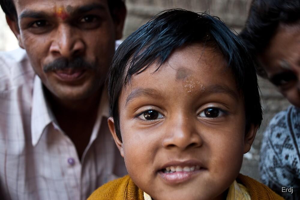Indian boy and farher  by Erdj