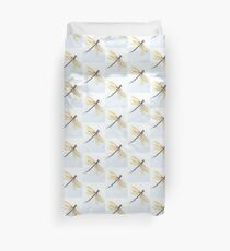 Dragonfly in Yellows Duvet Cover