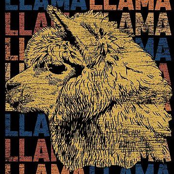 Lama herd by GeschenkIdee