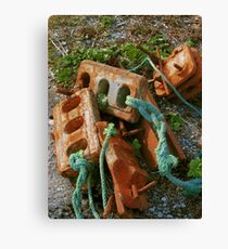 Rusty Anchors Canvas Print
