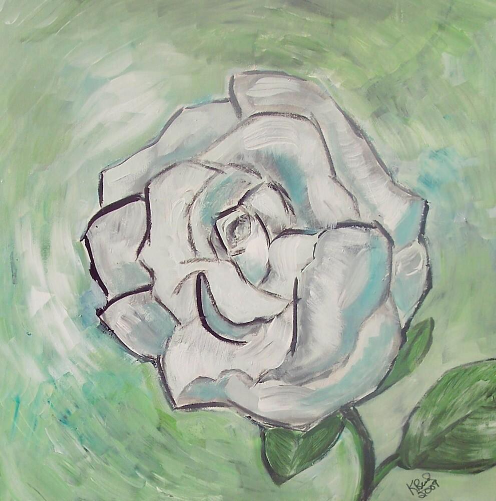 White Rose- a Garden Beauty by IowaArtist