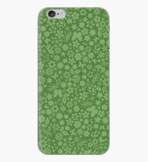 Flower & Butterfly Pattern - Green iPhone Case