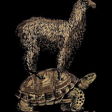 Turtle llama by GeschenkIdee