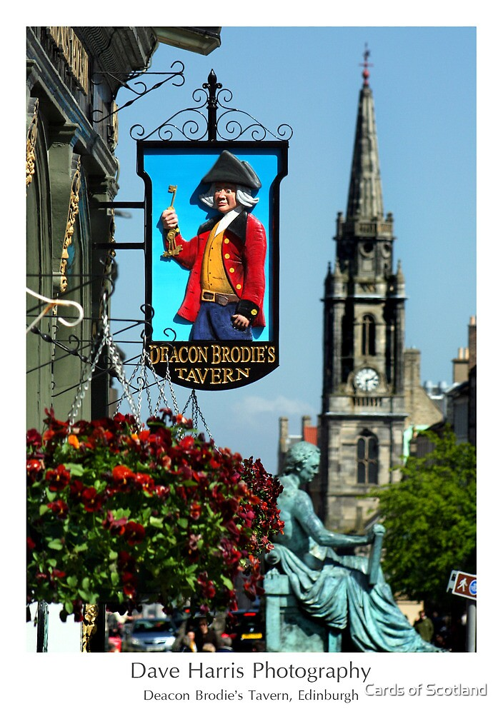 Deacon Brodie's Tavern, Edinburgh by Cards of Scotland