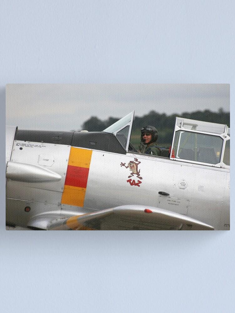 Alternate view of T-6 Harvard Pilot Canvas Print