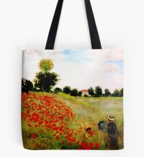 Poppies - Claude Monet 1873 Tote Bag