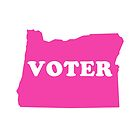 Pink I'm A Voter Oregon State Voting by alienfolklore