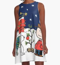 Snoopy Christmas A-Line Dress