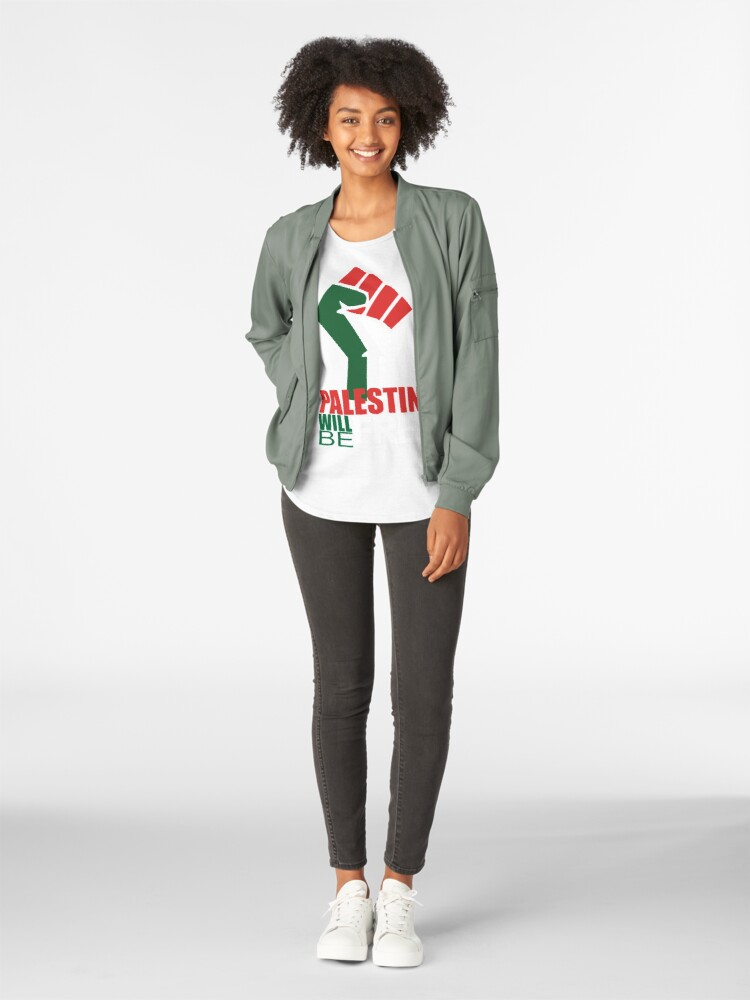 Alternate view of Vintage Free Palestine T shirts & Gifts Premium Scoop T-Shirt