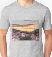 Sunset over Nimborio Unisex T-Shirt