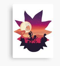 Rick and Morty Run! Canvas Print