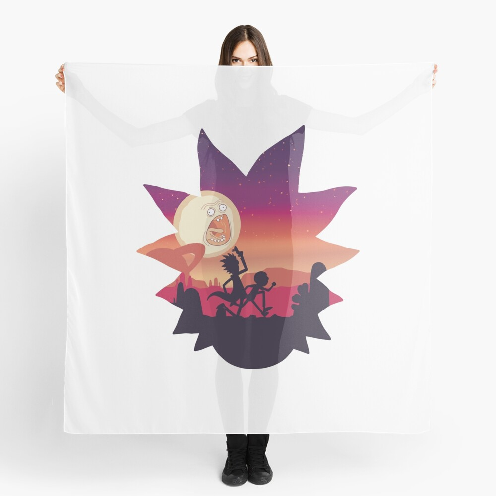 Rick and Morty Run! Scarf