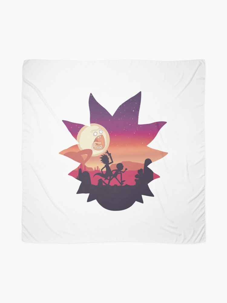 Alternate view of Rick and Morty Run! Scarf