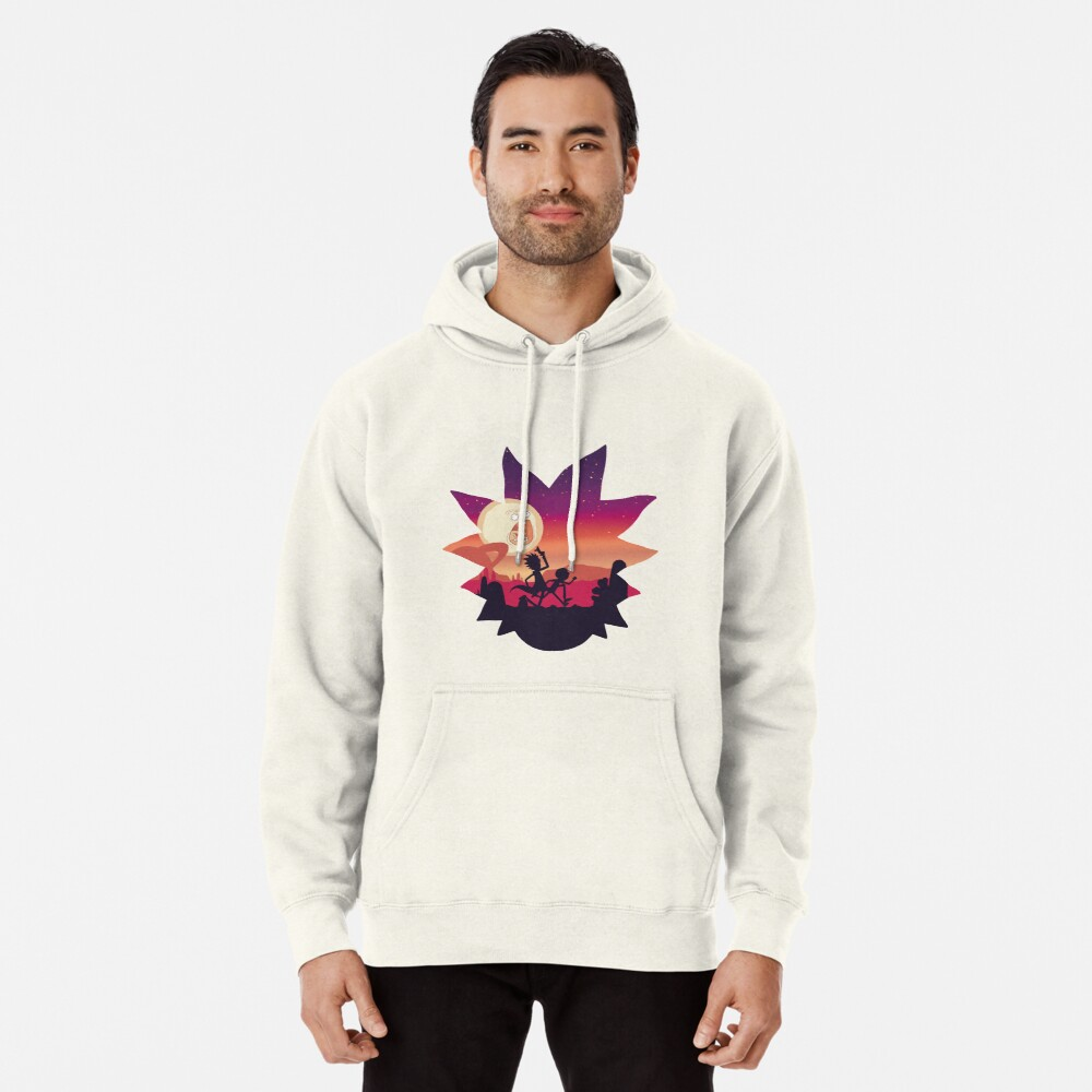 Rick and Morty Run! Pullover Hoodie