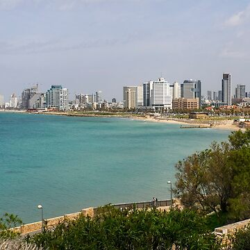 Israel,Tel Aviv beach front and skyline as seen from south, from Jaffa by PhotoStock-Isra