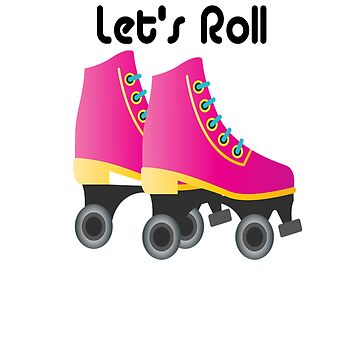 Retro Vintage Let's Roll Roller Skating Derby by Discofunkster