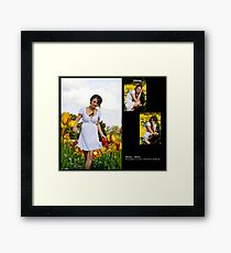 September 2010 Model Melia Framed Print