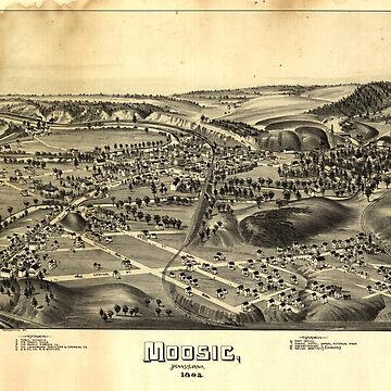 Aerial View of Moosic, Pennsylvania (1892) by allhistory