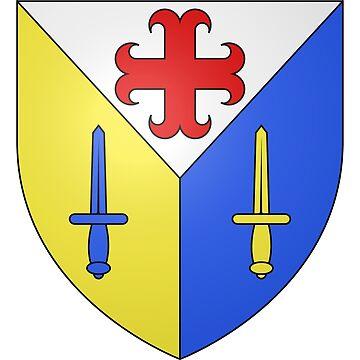 French France Coat of Arms 15276 Blason ville fr Saint Rémy sur Durolle Puy de Dôme by wetdryvac
