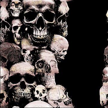 Skull Carnival. Gothic Horror, Macabre Design by gorillamerch