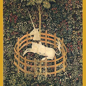 UNICORN in Captivity Tapestry by Greenbaby