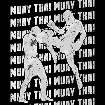 Muay Thai Repeat Fighting Martial Arts Training Silver by zot717