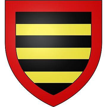 French France Coat of Arms 15279 Blason ville fr Saint Saturnin de Lucian Hérault by wetdryvac