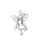fairy girl dancing in black and white by jasmineberry