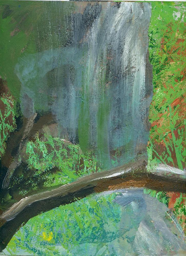 Waterfall by Roza Ganser