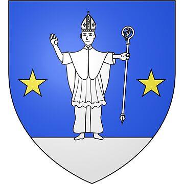 French France Coat of Arms 15281 Blason ville fr Saint Saturnin lès Avignon Vaucluse by wetdryvac