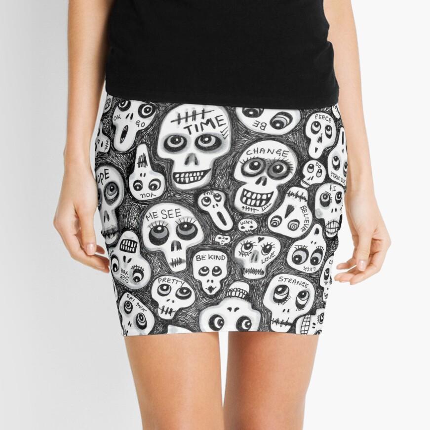 The Skull People Mini Skirt