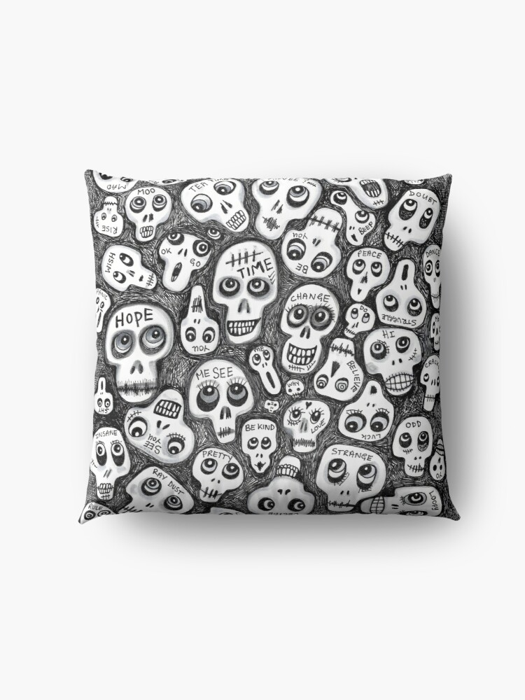Alternate view of The Skull People Floor Pillow